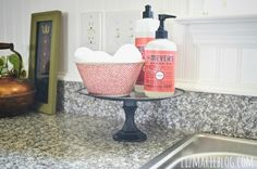 cake stand for soap and scrub