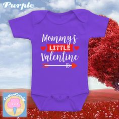 Mommy's Little Valentine, Valentine's day onesie, bodysuit, tshirt, Happy Valentine's day 2017, Baby's first valentine's day outfit -CCB-500 by CottonCandyBabyGifts on Etsy