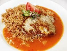 Denné menu Vranov | Bravčový filet preliaty omáčkou z červenej papriky, slovenská ryža - reštaurácia Hotel Patriot*** #hotel #restauracia #dennemenu