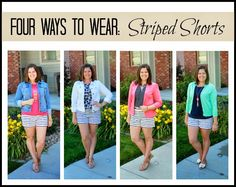 Clothed with Grace: Four Ways to Wear: Striped Shorts