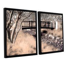 Bridge Over Wash by Linda Parker 2 Piece Floater Framed Photographic Print on Canvas Set