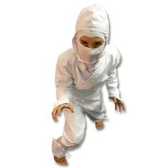 Kids White Ninja Costume now available at http://www.karatemart.com/