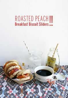 Roasted Peach Biscuit Sliders // Take a Megabite for Hungry Girl Por Vida