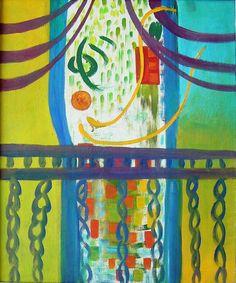 Homenaje a Henry Matisse, 1962 (óleo sobre tela) 60 x 60 cm.