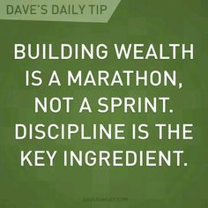 Building Wealth is a Marathon, Not a Sprint.  Discipline in the Key Ingredient Budget Organization, Financial Organization, Financial Literacy, Financial Peace, Financial Success, Financial Planning, Key Ingredient, Dave Ramsey Debt Snowball, Monthly Expenses