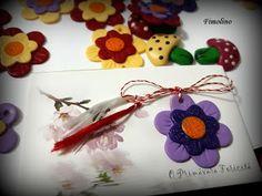 Martisor - floare Minnie Mouse, Christmas Ornaments, Holiday Decor, Blog, Home Decor, Fimo, Decoration Home, Room Decor, Christmas Jewelry