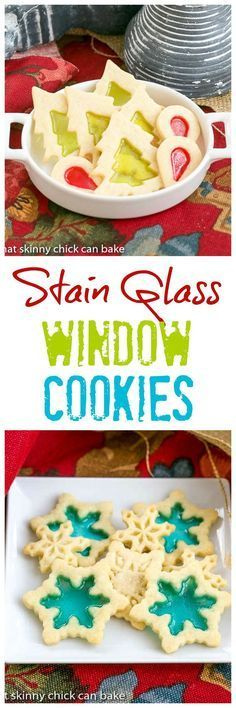 Stained Glass Cookies | Adding a little crushed candy to your sugar cookies makes for a fabulous holiday cookie! /lizzydo/