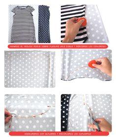 vestido lunares DIY 1 Como estrenar un vestido DIY en un Pis Pas sin necesitar patrón