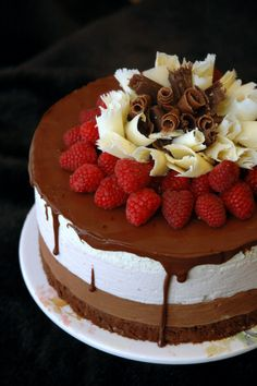 Chocolate Raspberry Mousse Cake ....
