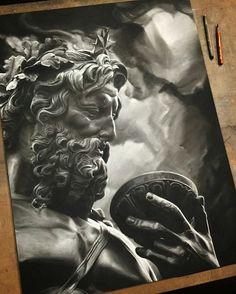 Amazing charcoal drawing by artist @ben.hersh #artinspires #artislife #artordie #theartisthemotive .
