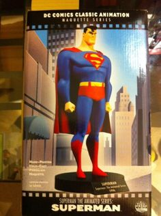 Superman Maquette From the Superman the Animated Series - DC Comics Classic Animation Maquette Serie @ niftywarehouse.com #NiftyWarehouse #Superman #DC #Comics #ComicBooks