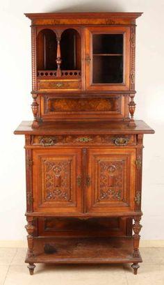 Simple Deutsch antike Nussbaum kleinen Tischl ufer Circa Gr nderzeit Box ist zweiteilig mit Origi