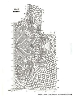 Lets Knit Series № 80569 2018 — Yandex. Crochet Chart, Crochet Motif, Crochet Designs, Crochet Lace, Crochet Stitches, Crochet Patterns, Beach Crochet, Crochet Jumper, Pineapple Crochet