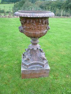 Nice Victorian Planters And Urns   Victorian Planter,antique Garden Urns,saltglazed  Garden Plantergarden .