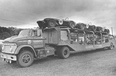 1963 Shelby American Cobra Racing Team Truck , loaded up with the Team Cobras at Elkhart Lake for the Road America 500 USRRC Race - September 8, 1963- won by Augie Pabst and Bill Wuesthoff