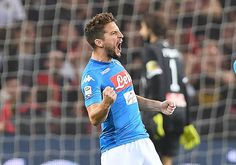 Dries Mertens of SSC Napoli celebrates after scoring goal 11 during the Serie A match between Genoa CFC and SSC Napoli at Stadio Luigi Ferraris on...
