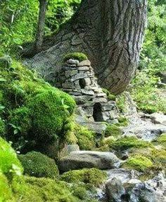 Love this stone fairy house found on Facebook.