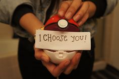 the pokemon proposal...my boyfriend would totally consider this...then realize he shouldn't ^^
