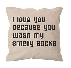 Personalised 'I Love You Because' Cushion