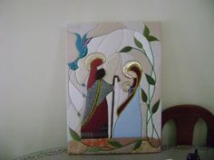 Imagen patchwork sin aguja - grupos. Christmas Nativity, Felt Christmas, Christmas Crafts, Xmas, Country Crafts, Diy Projects To Try, Fused Glass, Needle Felting, Tapestry