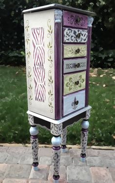Jewelry Armoire ROYAL SAFARI hand painted by accentbydesign, $349.00