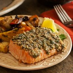 Herb Basted Salmon by AFamilyFeast