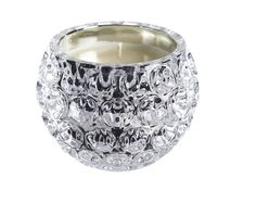 Sparkle Glow Scented Candle.   Stunning crystal effect scented candle. Fresh linen fragrance. Size H8 x diam. 10cm.