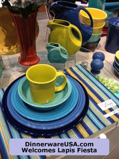 Lapis Fiesta is the new Fiestaware color for 2013 - A denim blue dinnerware, only down side it doesn't ship until summer. http://www.facebook.com/pages/DinnerwareUSAcom/149676441763407?sk=wall