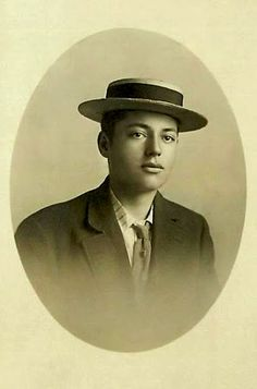 Vintage cdv  of young gent in pork pie hat. Gerry loved Dixieland Jazz.