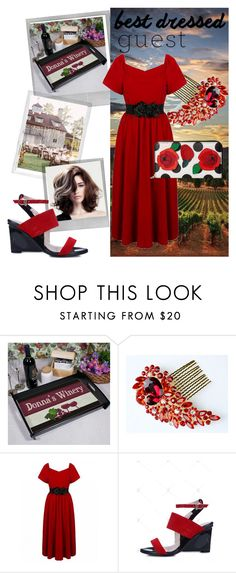 """""""A Toast to the Bride"""" by rainbow1027 ❤ liked on Polyvore featuring Polaroid, Dolce&Gabbana, napa, winerywedding, bestdressedguest and vineyardwedding"""