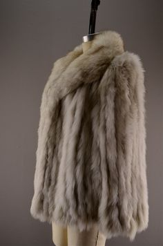 Silver fox coat / Vintage fur coat / Saga fur jacket by melsvanity, $148.00