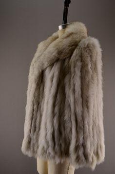 Silver fox coat / Vintage fur coat / Saga fur jacket by melsvanity, $148.00