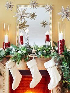 Christmas Decorating Fireplace Ideas . . . NATURALLY!