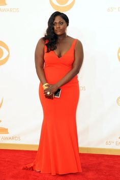 "Rating the Fashion at the 2013 Emmy Awards: Danielle Brooks""I love that Danielle -- a.k.a. Orange Is the New Black's ""Taystee"" -- wore orange! The dress is simple but flattering and, as an up-and-coming actress, it's fun to see her give a shoutout to her show."" -- Abby""She looks fantastic."" -- Elizabeth"