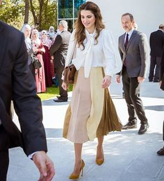 19 October 2016 - Queen Rania attends the opening of the first national pre-service teacher training program at the Queen Rania Teacher Academy (QRTA) in Amman
