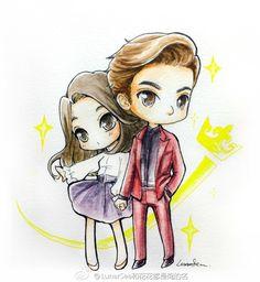 "Lee Min Ho and Park Shin Hye ♡ #Kdrama // The ""HEIRS"" Fan Art"