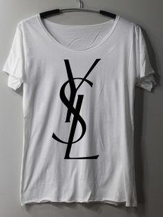 Yves Saint Laurent YSL Shirt TShirt T Shirt Tee by ThinkingGallery, $16.00