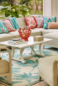 Like its namesake island, our Madeira Modular Seating elicits carefree sophistication. Its fluid design and gorgeous all-weather weave handle the elements beautifully.  | Frontgate: Live Beautifully Outdoors