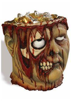 Bleeding Zombie candy bowl #Halloween #Decoration