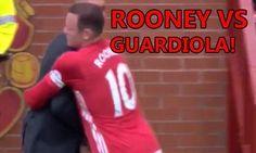 Gif: Wayne Rooney pushes Pep Guardiola away during... - http://euro2016.abafu.net/football/gif-wayne-rooney-pushes-pep-guardiola-away-during