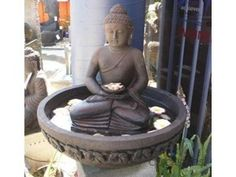 Buddha Head Water Feature Imported from Indonesia Beautifully Crafted from GRC Total Height - Tank Measures x Contact Us For Local or Interstate Shipping (Cost shown does NOT include Shipping) Buddha Garden, Bali Garden, Terrace Garden, Bali Decor, Yoga Decor, Bali Style Home, Buddha Decor, Sitting Buddha, Bedroom Wall Designs