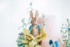 Beatrix Potter Peter Rabbit Inspired Birthday Party and Cake | CatchMyParty.com