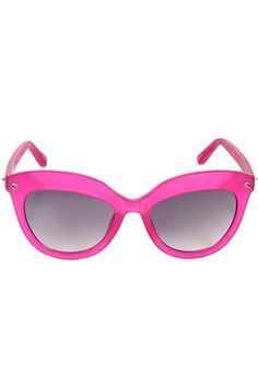 Agent Provocateur pink cateye sunglasses.