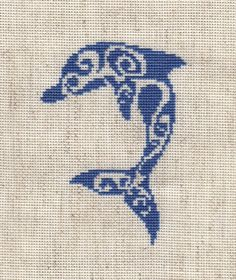 Σχέδια με δελφινάκια σταυροβελονιά -ιδανικά για παιδικά κεντήματα πηγή / source Κάνετε κλικ εδώ για να δείτε κι ά...