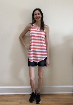 Got this Papermoon Egan One Pocket Knit Top in my June 2018 Stitch Fix and it's so perfect for summer