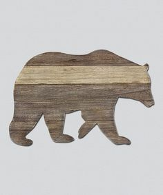 Another great find on #zulily! Wood Bear Cutout Wall Art #zulilyfinds