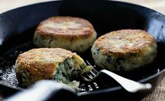 Fried Smoked Haddock, Spinach & Potato Cakes _ These are lovely, creamy, light fishcakes. Bbc Good Food Recipes, Cooking Recipes, Yummy Food, Yummy Recipes, Healthy Food, Healthy Eating, Just Cooking, Cooking Time, Recipes