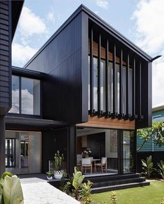 28 Ideas For Exterior House Design Modern Facades Architecture House Cladding, Exterior Cladding, Facade House, Oak Cladding, Exterior Stairs, Facade Architecture, Residential Architecture, Beautiful Architecture, Facade Design