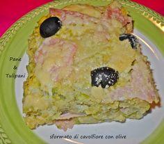 Sformato di cavolfiore con olive