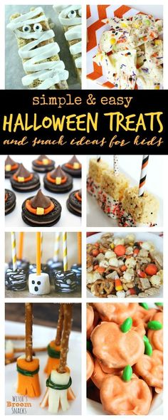 Easy Halloween Party Food Ideas For Kids that will help you Have the Best Halloween Party! Plus Halloween Treats Kids Can Make and Homemade Halloween Treats
